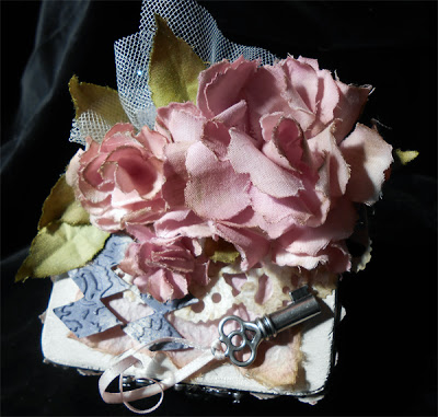 shabby chic pink rose box craft