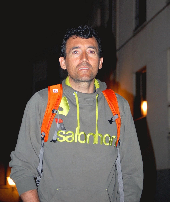 Miguel Heras, tras una charla en Salamanca. /TRAILCYL