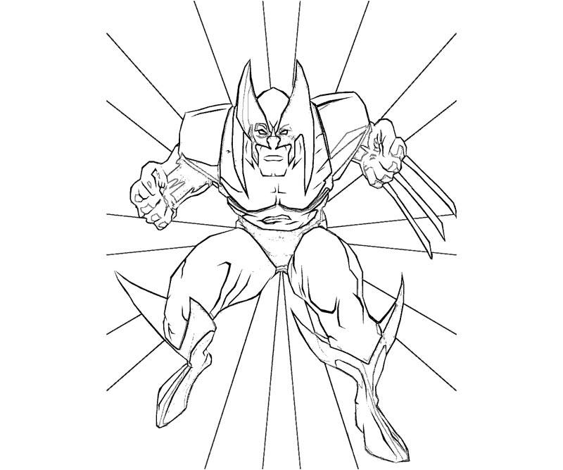 #16 Wolverine Coloring Page