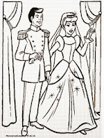 Gambar Cinderella Untuk Mewarnai