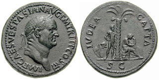 """Sestertius - Vespasiano - Iudaea Capta-RIC 0424"" by Classical Numismatic Group, Inc. http://www.cngcoins.com. Licensed under CC BY-SA 3.0 via Wikimedia Commons - http://commons.wikimedia.org/wiki/File:Sestertius_-_Vespasiano_-_Iudaea_Capta-RIC_0424.jpg#/media/File:Sestertius_-_Vespasiano_-_Iudaea_Capta-RIC_0424.jpg"