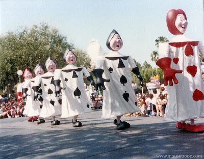 Disneyland Disney Cards Alice Parade Flights Fantasy Wonderland