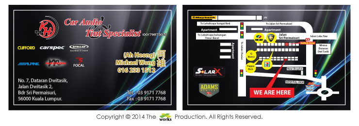 Xworks business card design kh car audio tint specialist business card design kh car audio tint specialist colourmoves