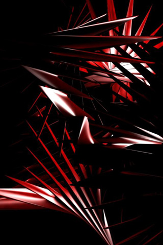 3D IPhone Wallpapers Red Tribal Wallpaper