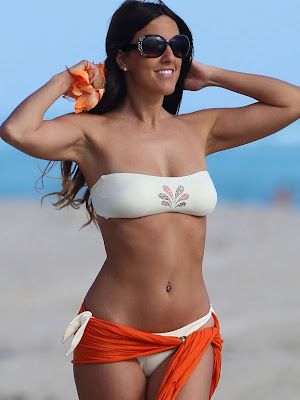 Claudia Romani on the Beach in Miami
