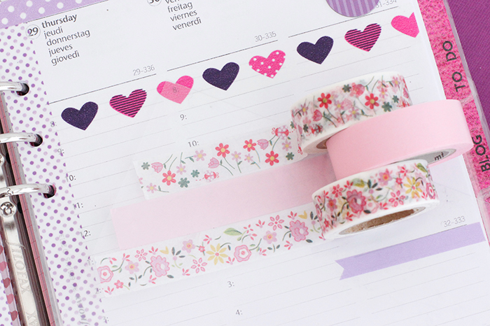 Filofax Washi Tapes Flowers