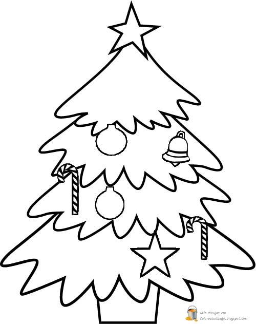 COLOREA TUS DIBUJOS: Árbol de navidad para imprimir y colorear
