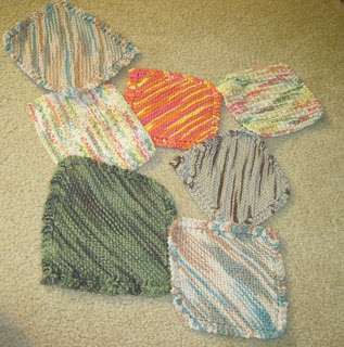 knitted corner to corner wash cloths