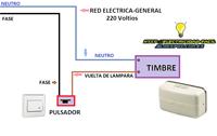 conexion de timbre esquema electrico
