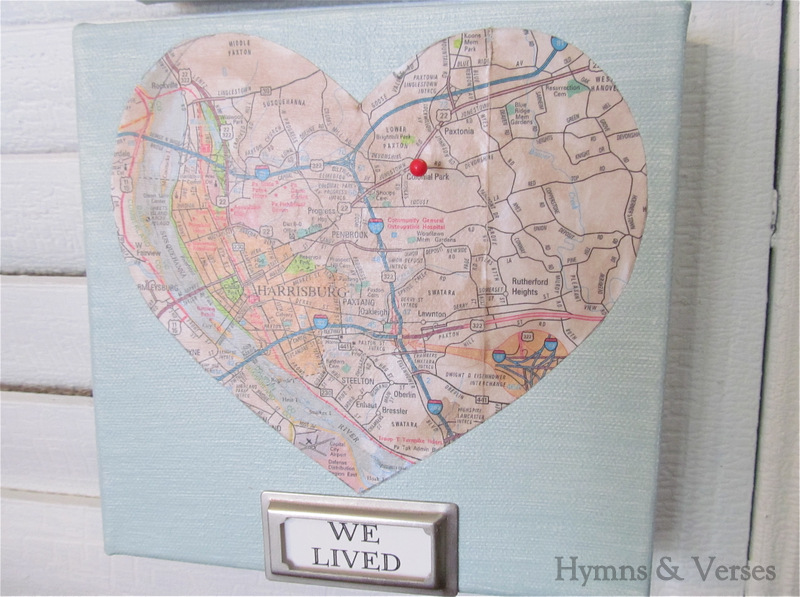 Mod podge diy love map art work debbiedoos then use your modge podge to apply each heart to each painted canvas apply two coats of modge podge letting dry completely between coats gumiabroncs Image collections