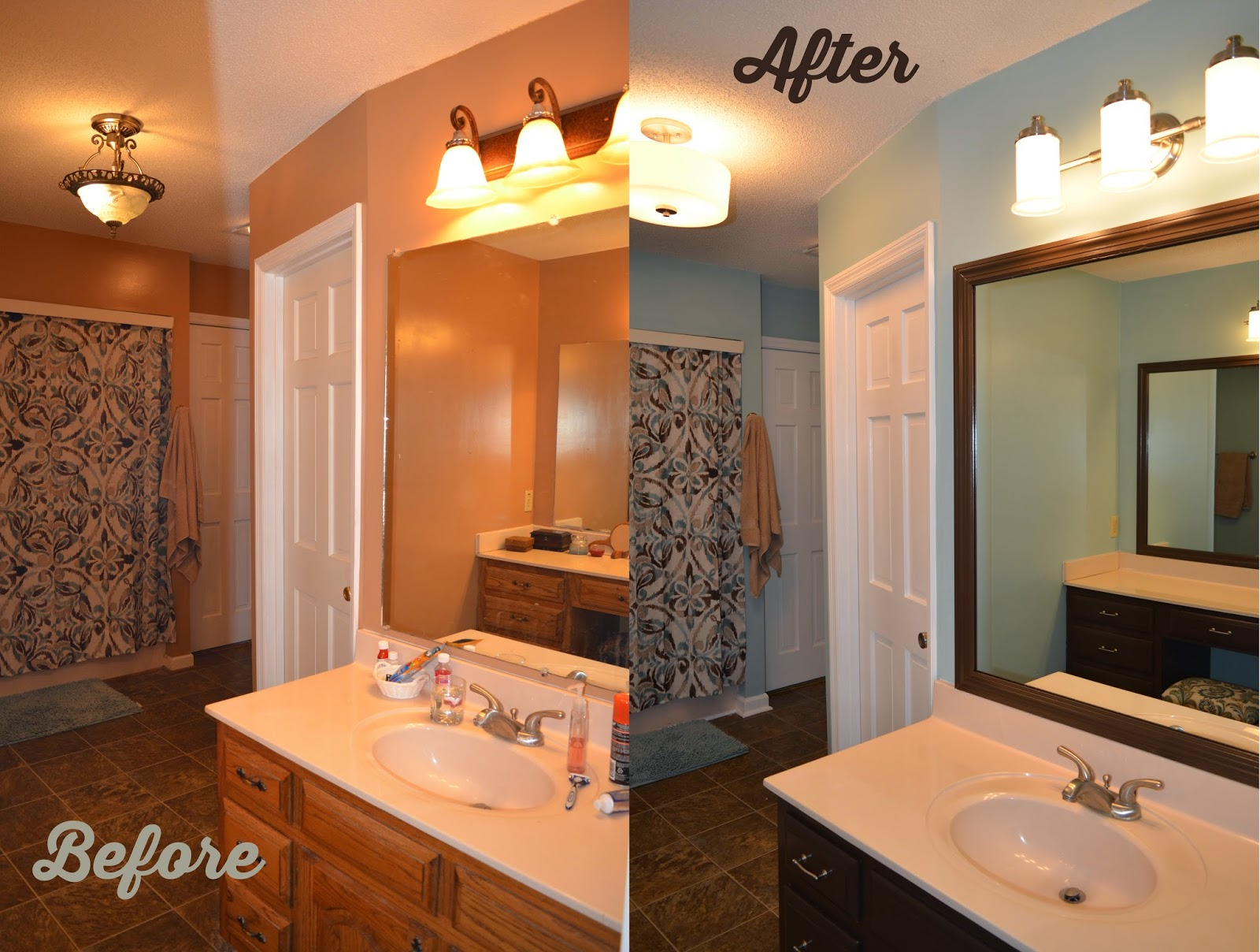Framing A Bathroom Mirror Before And After from nerdy to thirty: bathroom renovation: mirror frame