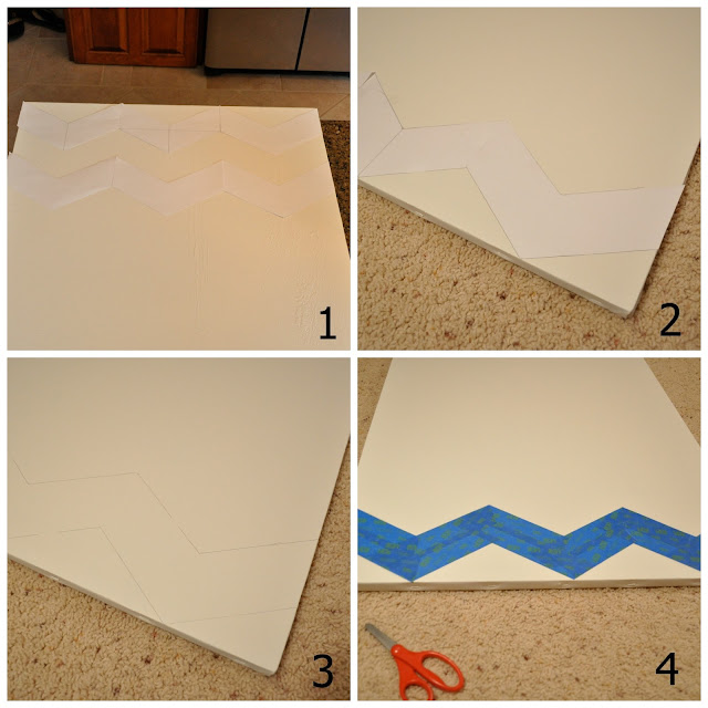 Easy Chevron Painting - The Colored Door