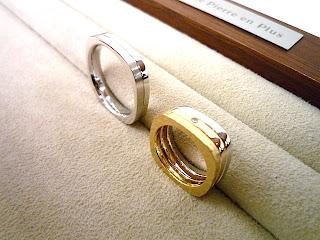 こだわりのデザインは重ねつけができるマリッジリング(結婚指輪)です。