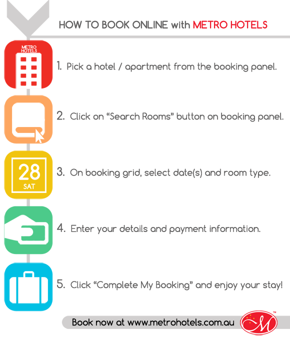 how to book metro hotel online