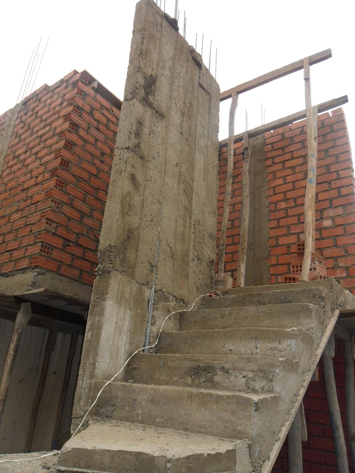 Oniria obra en proceso escaleras y ampliaci n de segundo for Modelos de escaleras de concreto para segundo piso