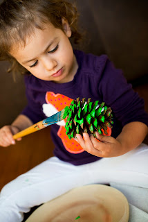 Pine Cone Christmas Tree Fall Craft