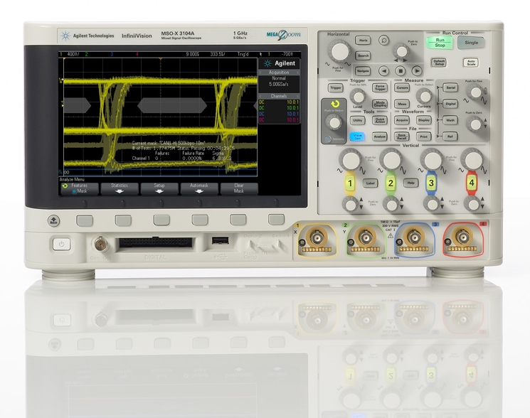 Measurementest test and measurement agilent technologies agilent technologies inc nyse a recently introduced the oscilloscope industrys first eye diagram mask testing capability for the differential ccuart Image collections