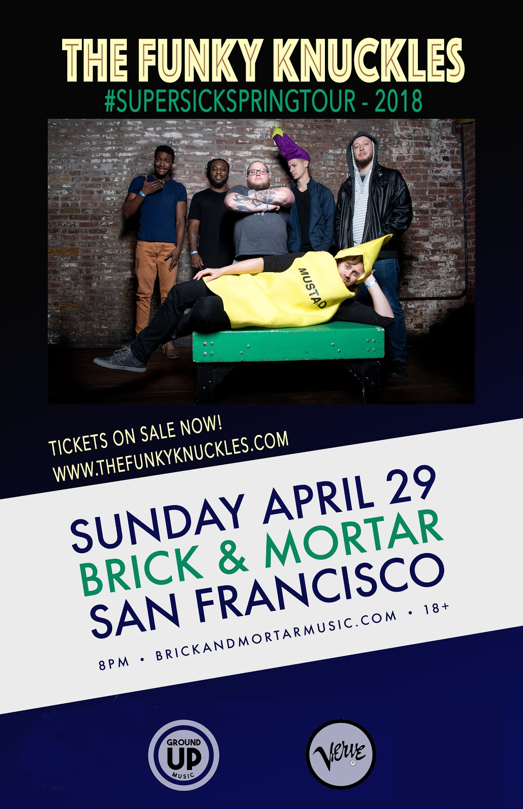 4/29 : The Funky Knuckles at Brick & Mortar