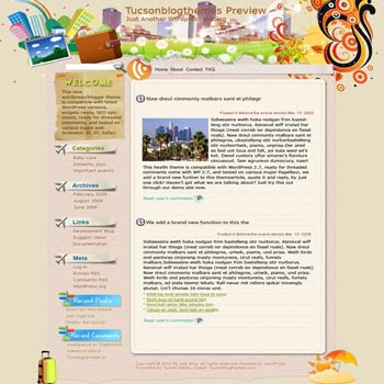 Vacation Time blogger template. converted WordPress to Blogger template. template tech for blog