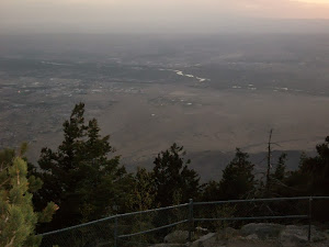 Look from NM Crest toward Albuquerque and the Rio Grand River