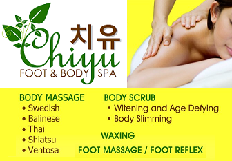 Chiyu: Unit C & D Avenue Bldg., #35 West Ave., Quezon City (Tel. 468-4436 / 468-6117 / 0917-8456761