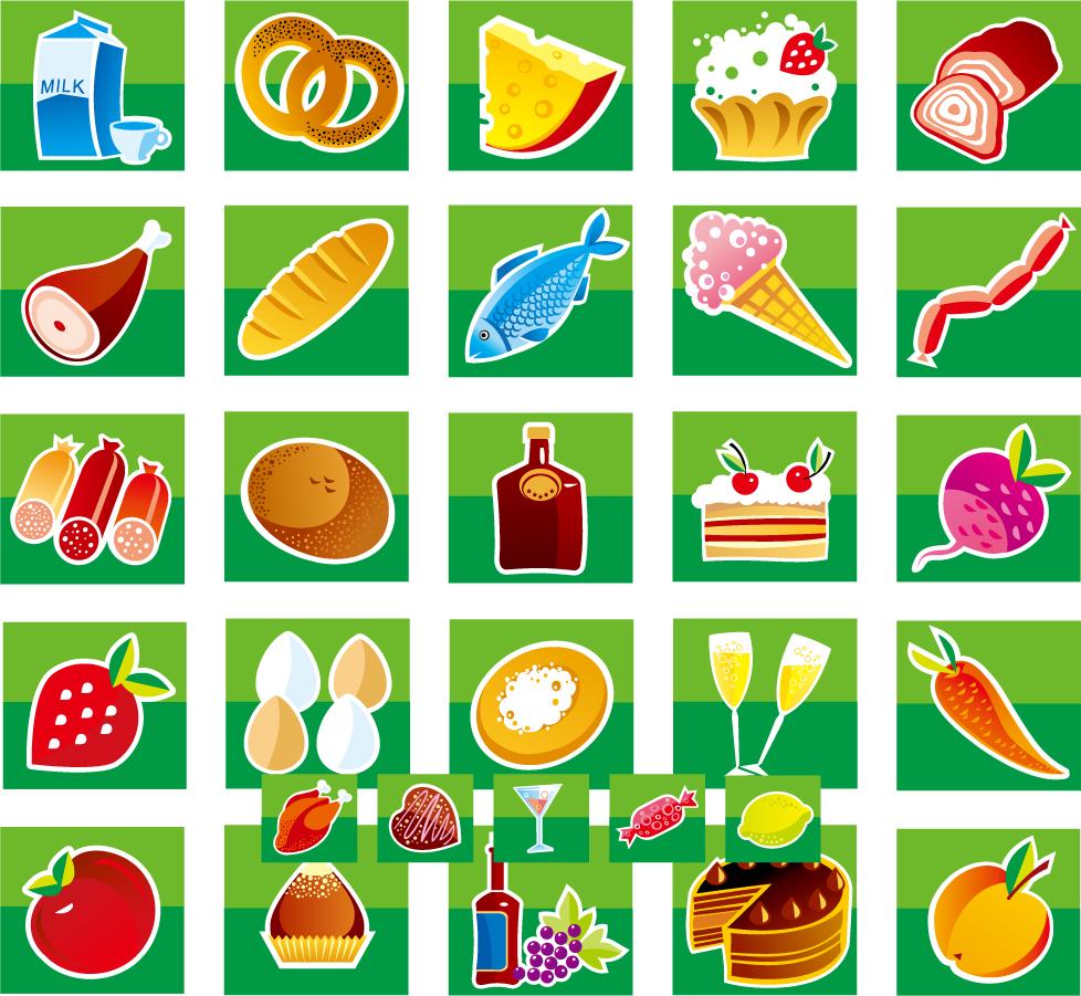 朝食と軽食のアイコン Lovely breakfast food icon イラスト素材3