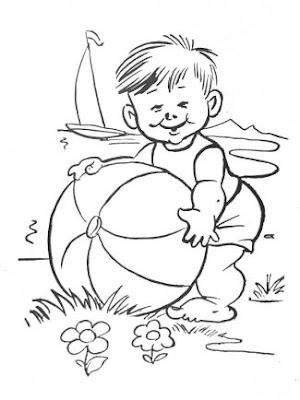 Desenhos Para Colori Bebes com ursinho gatinho engraçadinhos brincando monica desenhar