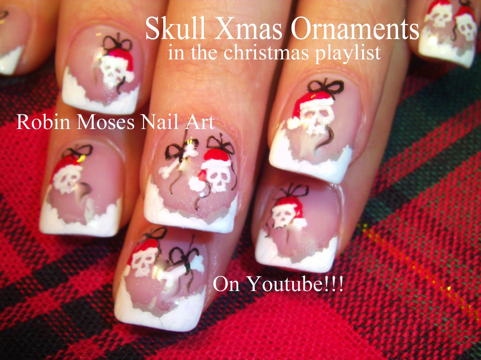Robin moses nail art poinsettia nails christmas nails xmas nail art tutorials christmas nail art diy xmas nails easy holiday nail art for beginners and up prinsesfo Images