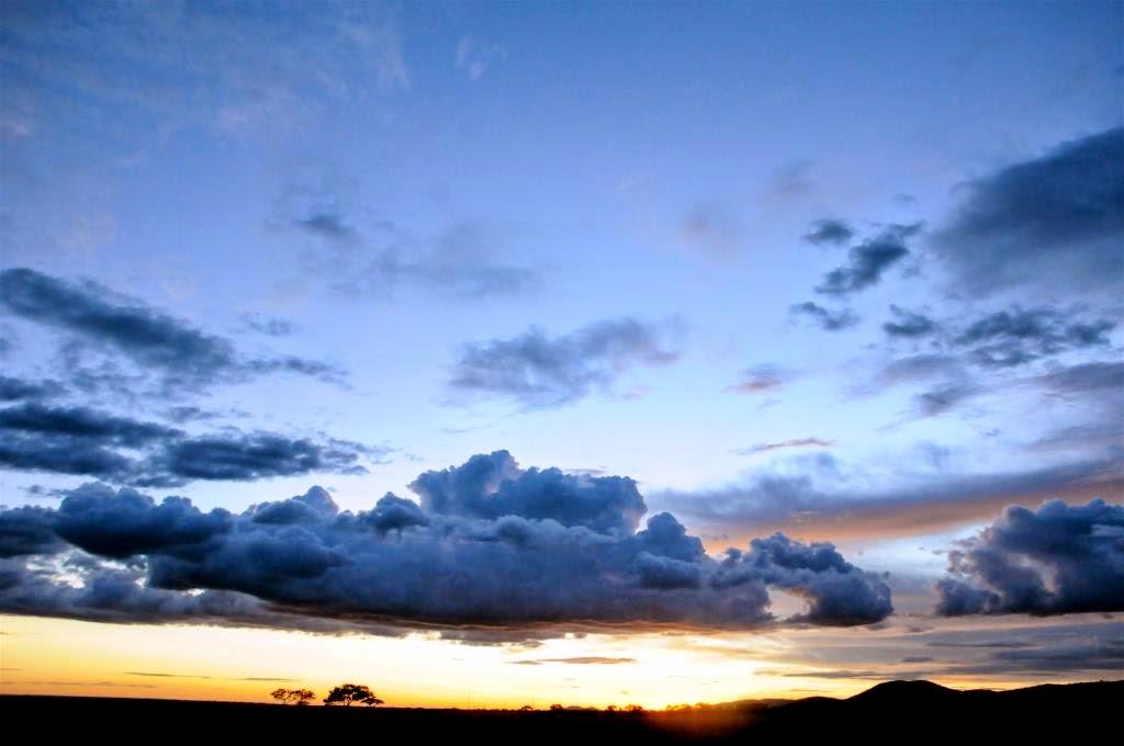 zonsondergang, Afrika, Tanzania, Oost-Afrika, open vlakte, wildlife, Afrikaanse lucht, Afrikaanse vlakte, natuur, wijdse panorama's