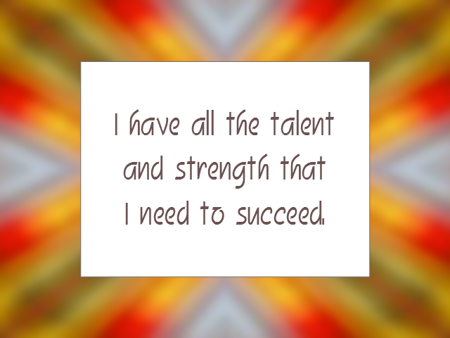 STRENGTHS affirmation