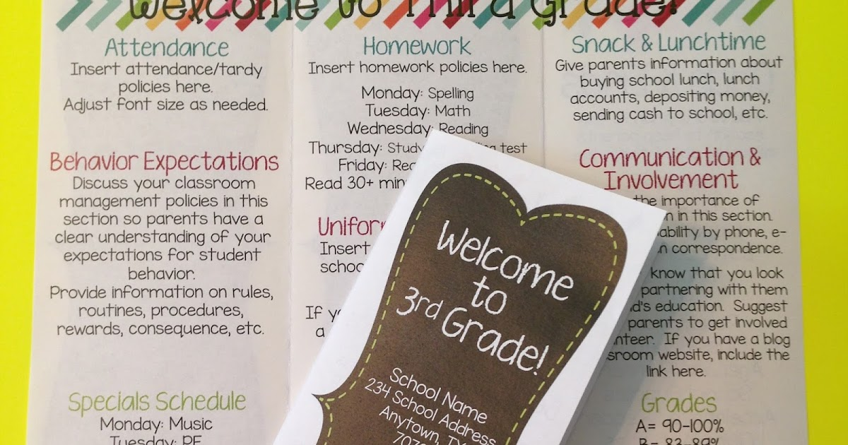 thehappyteacher back to school brochure
