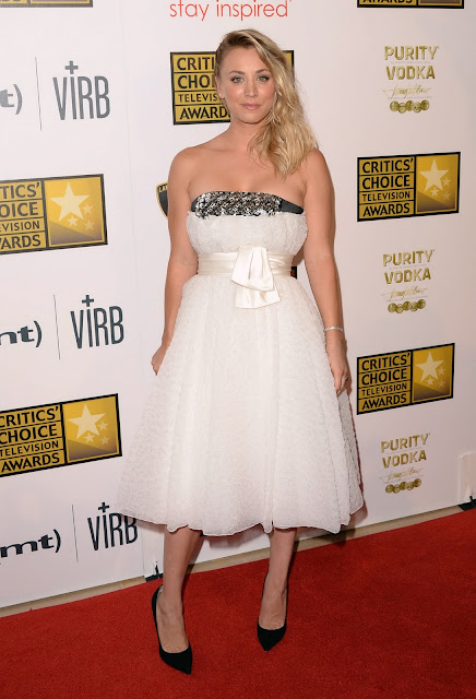Kaley Cuoco  3rd Annual Critics' Choice Television Awards  red carpet