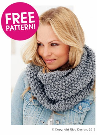 Eight By Six Moss Stitch Snood Free Knitting Pattern