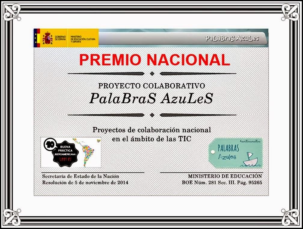 PALABRAS AZULES ¡¡¡PREMIO NACIONAL!!!