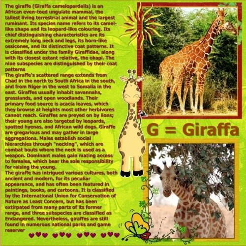 July 2016 - G = Giraffa