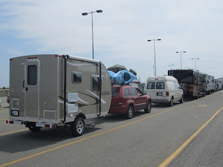 Camplite 11FDB in line for the ferry to Nova Scotia