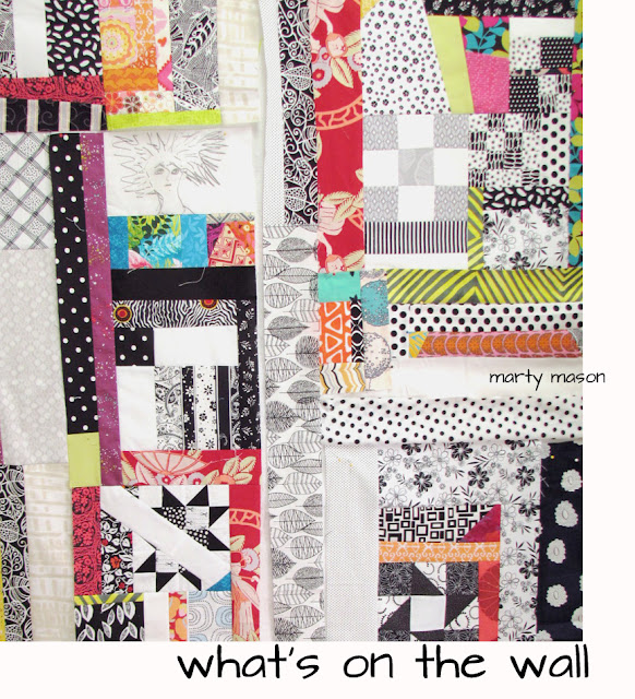 improvisational quilt top