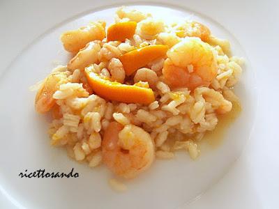 Risotto agli scampi ricetta risotto con gamberi in salsa d'arancia