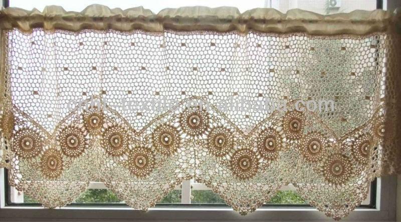 Croche e pontos cortinas 5 9 15 for Cortinas de gancho para cocina