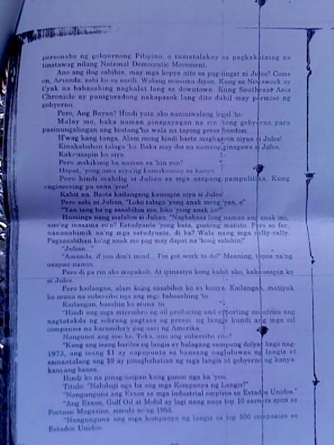 tagalog na ang paghuhukom ni lualhati bautista Ang paghuhukom salin sa tagalog ni lualhati bautista ang pitong buhay ni anabella: ang tagasalin bilang malikhaing manunulat, kritiko at literary historian ni rosario cruz-lucero isang report ni benjie torralba para kay g michael coroza literary translation buod si rosario cruz-lucero ay isang tagasalin ng panitikinag hiligaynon tungo sa wikang filipino.