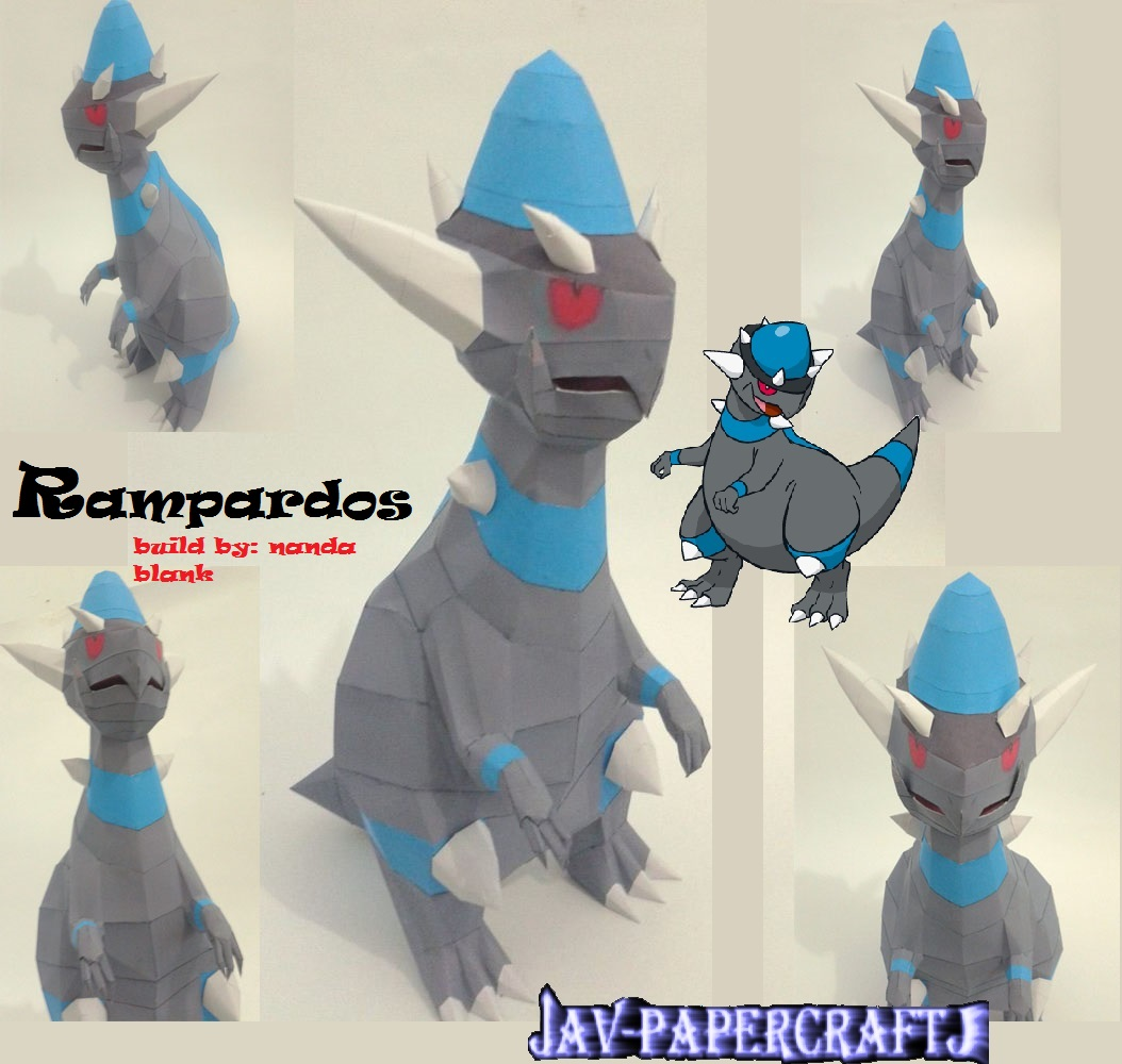 Pokemon Rampardos Papercraft