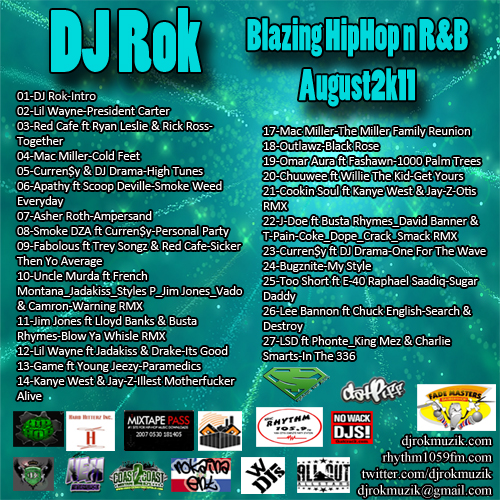 VA-DJ Rok-Blazing HipHop & R&B August 2k11