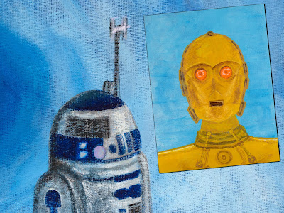 R2D2 and C3PO: These ARE the Droids You're Looking For!  Signed First Edition Prints and the ORIGINAL Paintings Available on Kickstarter NOW!