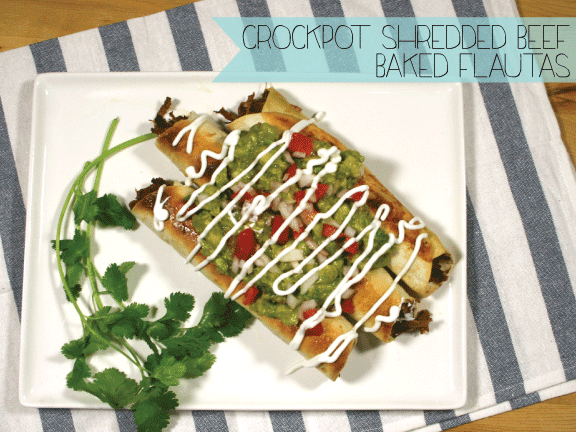 Just A Darling Life: Crockpot Shredded Beef BAKED Flautas