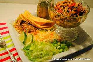 Carnitas Pork Tacos with Honey Lime Dressing  from Miz Helen's Country Cottage