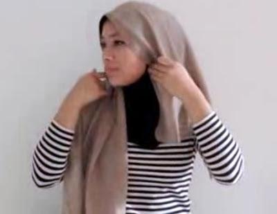 Creation hijab urban chic hanya 3 menit part 3