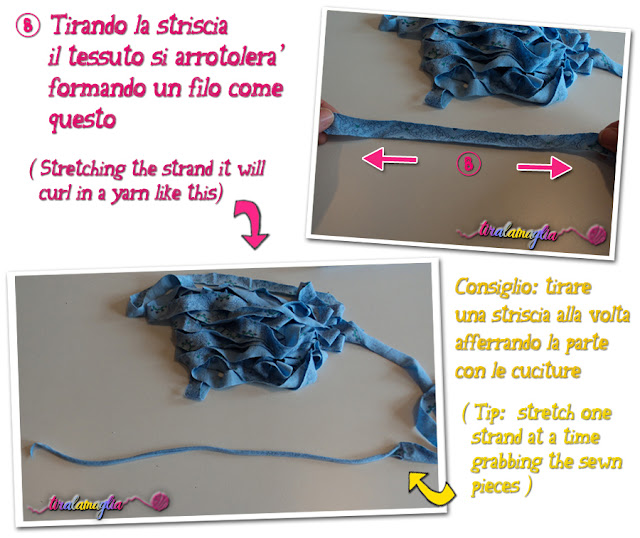 Tutorial and recycle idea: how to make a t shirt yarn (6)