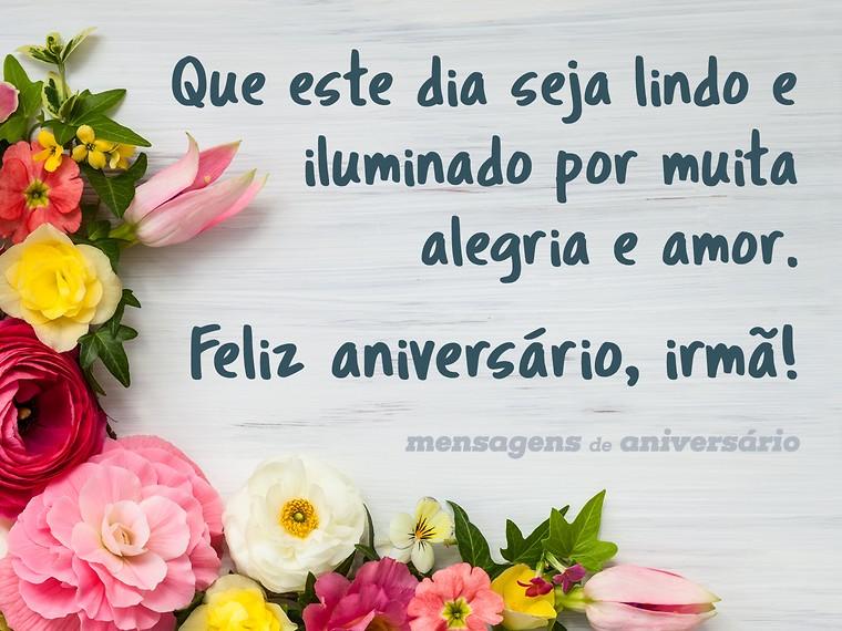 Mensagem De Aniversario Para Irma Feliz Aniversario Minha Querida