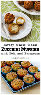 Savory Whole Wheat Zucchini Muffins with Green Chiles and Cheese [found on KalynsKitchen.com]