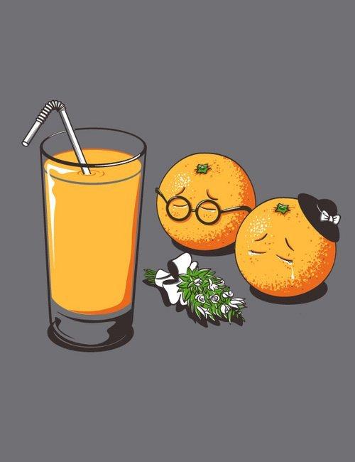 muerte de una naranja - mandarina - fruta